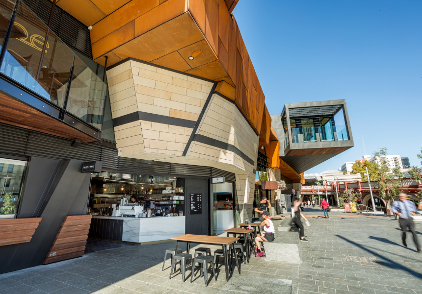 Yagan Square in the CBD.