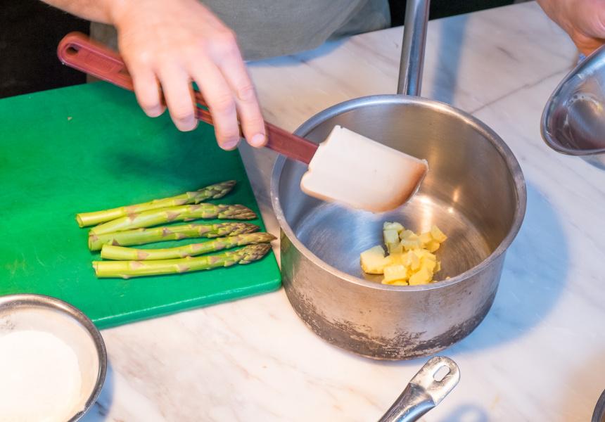 Melt the butter.