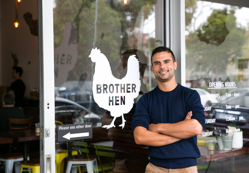 Michael Angiolino, co-owner of Brother Hen