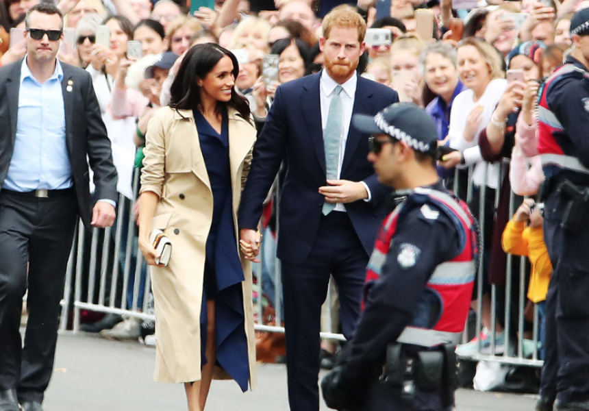 Meghan Markle in Dion Lee dress and Martin Grant coat