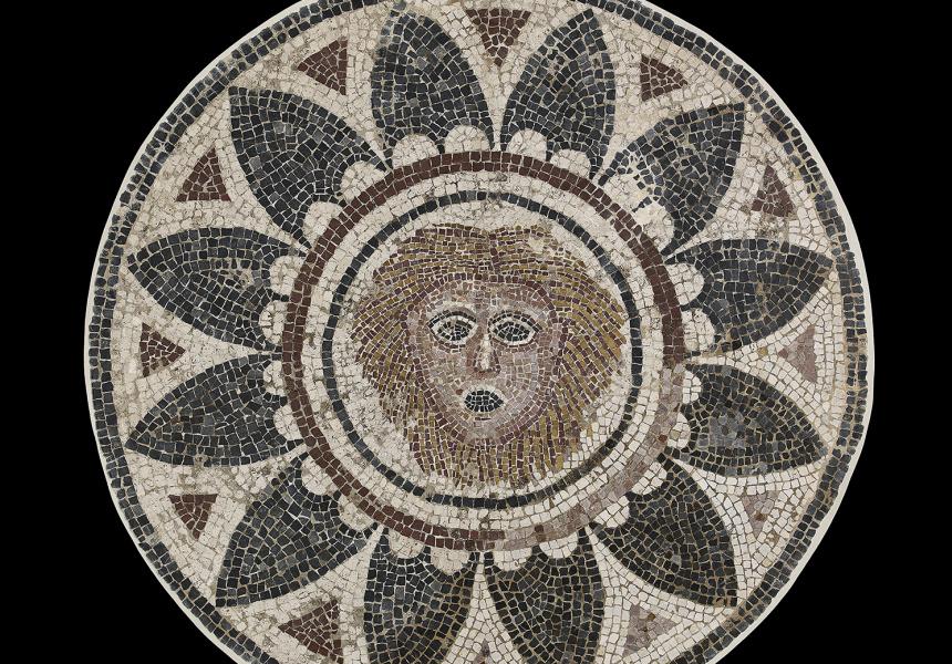 Mosaic panel, Halicarnassus (modern Bodrum), Turkey, 4th century CE, ©Trustees of the British Museum