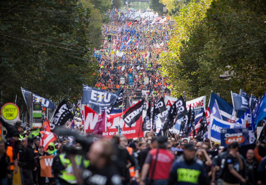 ACTU Rally Expected to Bring 150,000 Protestors to Melbourne CBD on Tuesday - Broadsheet