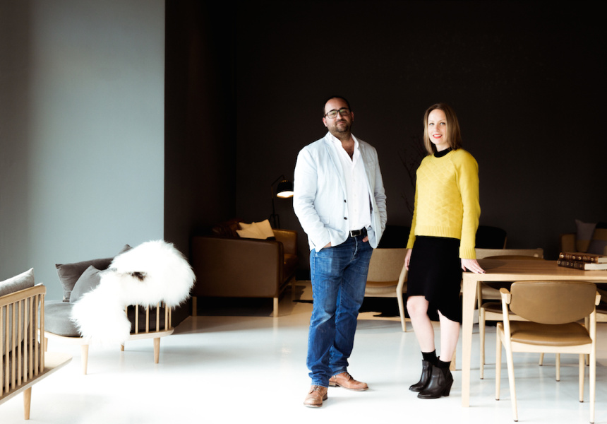 Great Dane furniture founder Anton Assaad and JCB Architects designer Adelle Mackey.