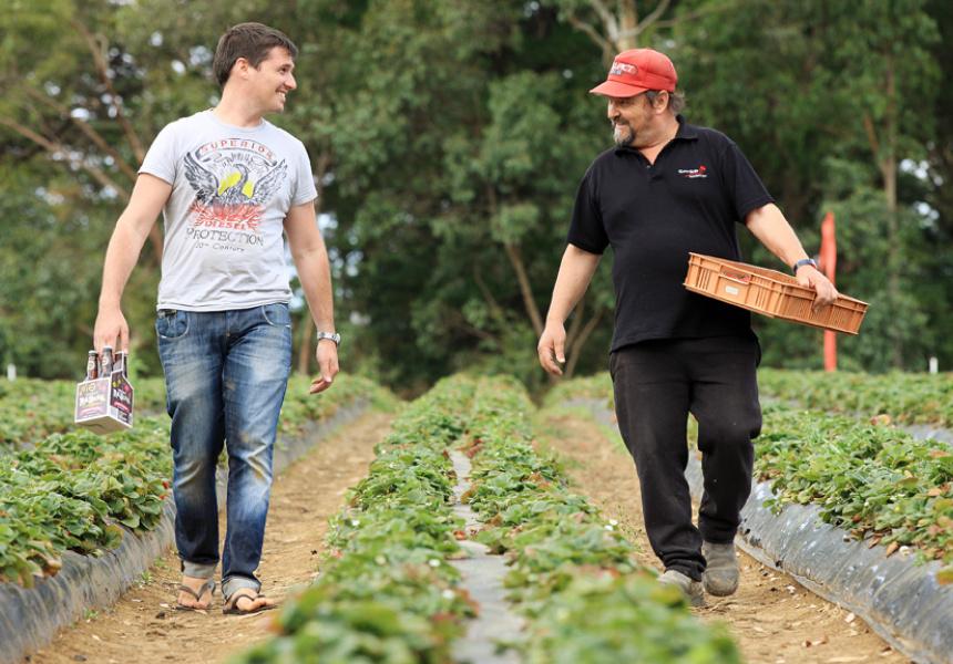 Matt Gallace (left) and his father Mick who runs Sunny Ridge.