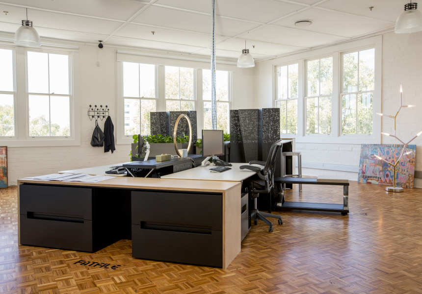 Planex Erskineville Showroom, New South Wales. Featuring the Fatfile Storage, Flox Planter Box, Freefold Screen, X-System Shelf.