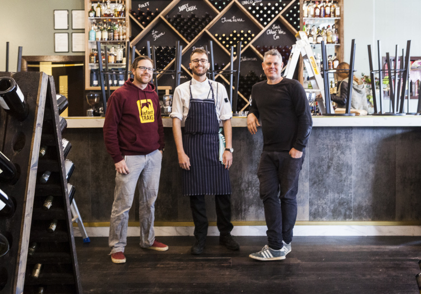 Matthew Bell, Loiuc Sorbier and Dan Wegener of Wine Rooms by Harvey Leigh's.