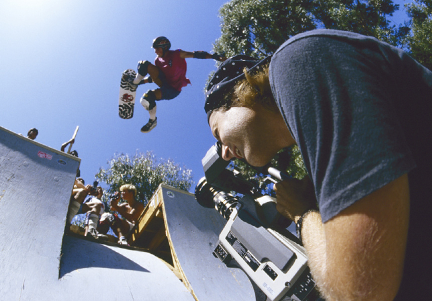 Stacy Peralta filming Grant Brittain