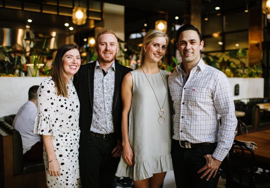 L-R: Melissa Blyth, Matt Blyth, Cecilie Meade and Trent Meade
