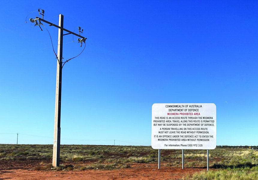 Yhonnie Scarce,Prohibited Zone, Woomera2021, research photograph. Courtesy the artist and THIS IS NO FANTASY, Melbourne.