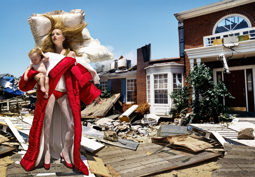 Heather Marks by David LaChapelle  The House at the End of the World, 2005 chromogenic print Viktor&Rolf, Bedtime Story ready-to-wear collection, autumn–winter 2005 published in Vogue Italia, October 2005 © David LaChapelle