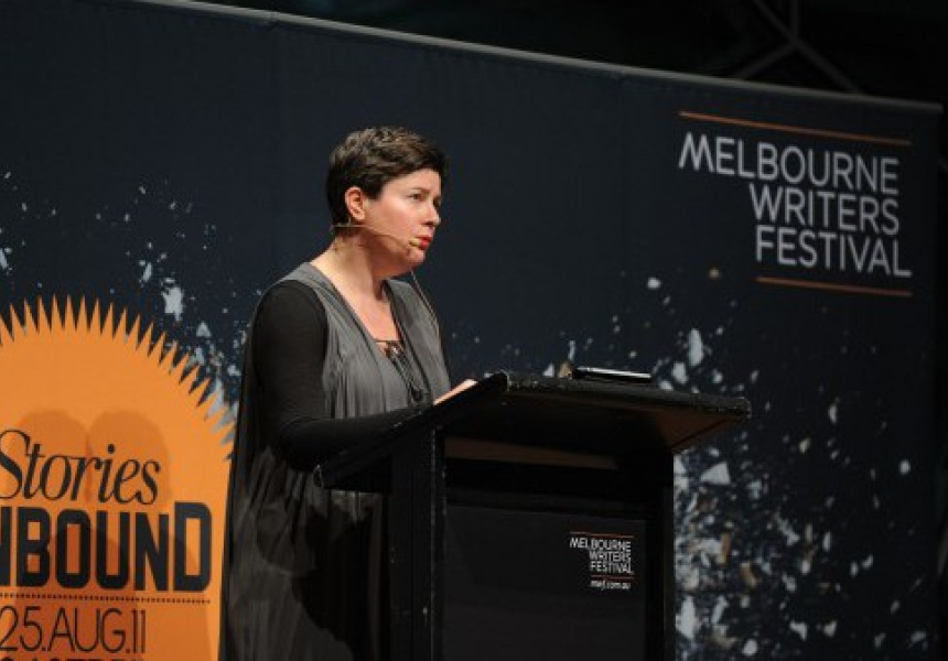 Sophie Cunningham at the Melbourne Writers Festival.