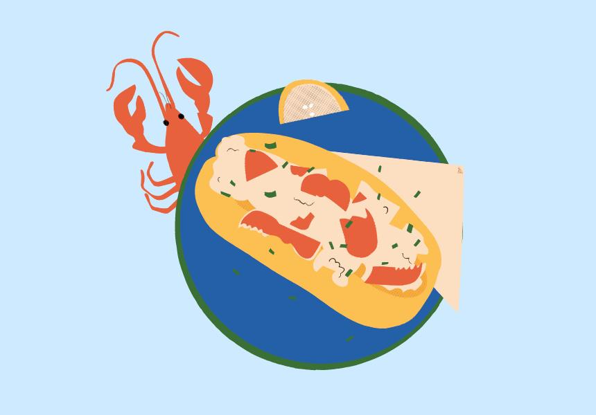 Lobster Rolls. Illustration by Jazz Feldy.