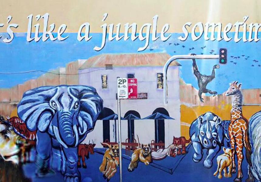 The original mural.