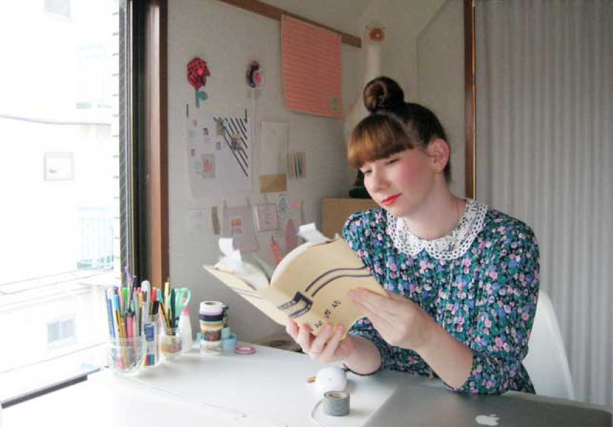 Ebony Bizys in her Tokyo Studio. Photographs courtesy of Ebony Bizys and Hello Sandwich.
