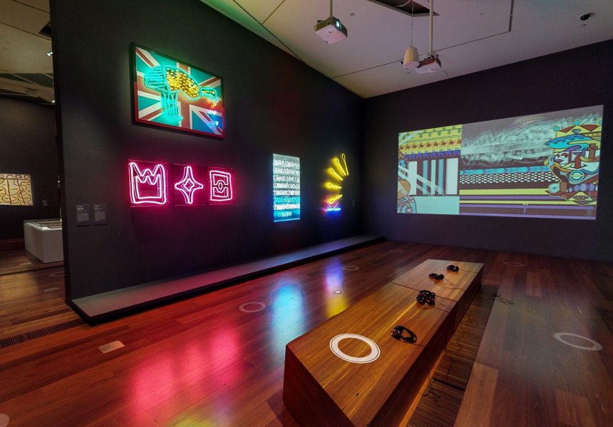 Marking Time: Indigenous Art from the NGV Collection at NGV Australia, available to view via Virtual Tour on the NGV Channel.