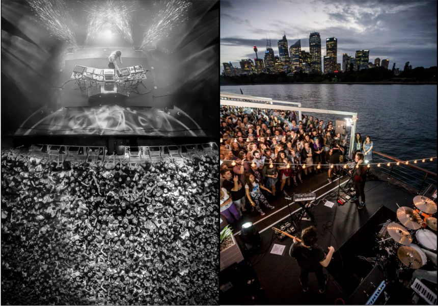 Left: Flume by Russell Privett  Right: The Wombats by Rohan Anderson