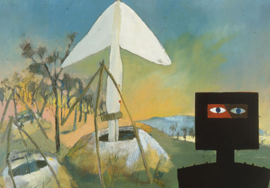 "Sidney Nolan, ""Kelly at the Mine"" (1946-47)"