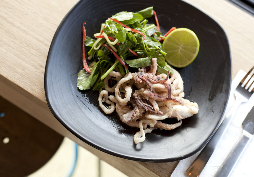Salt and Pepper Calamari with soy and lime dressing