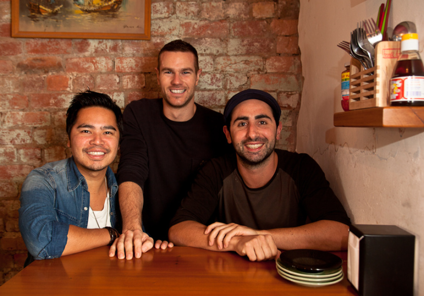 Paul Nguyen, Nick Coulter and Simon Blacher