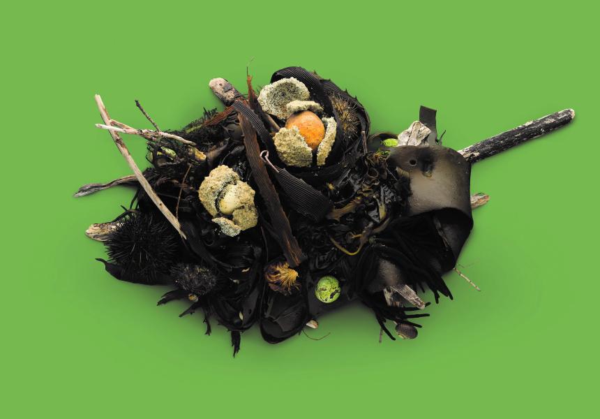 Seaweed salt-baked root vegetables by Dominique Crenn