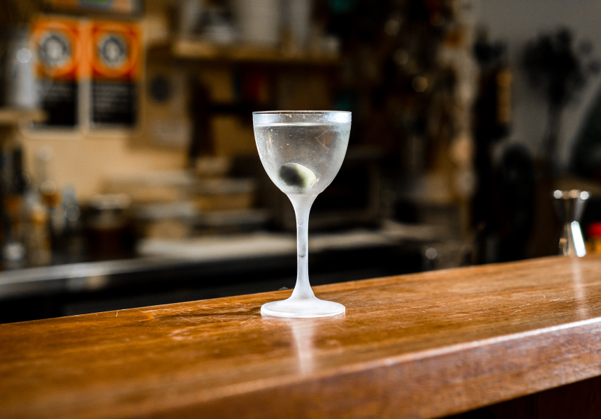 A simple Martini at This Must Be the Place.