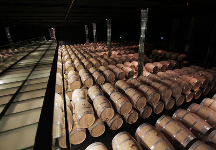 Barrel Room at Chateau Cos D'Estournel, Bordeaux