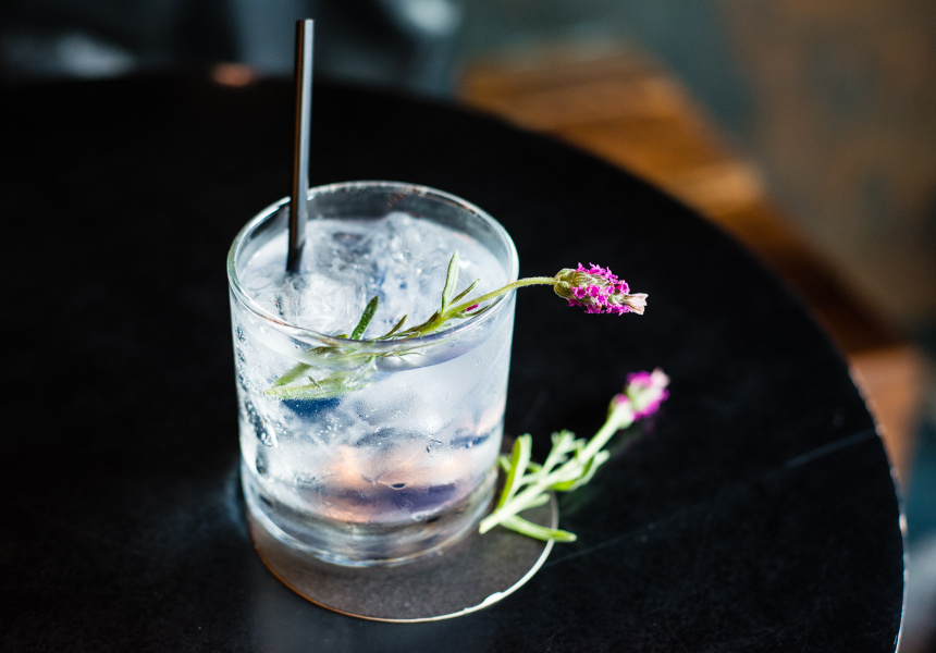 An example of the floral cocktails at Bloodwood.