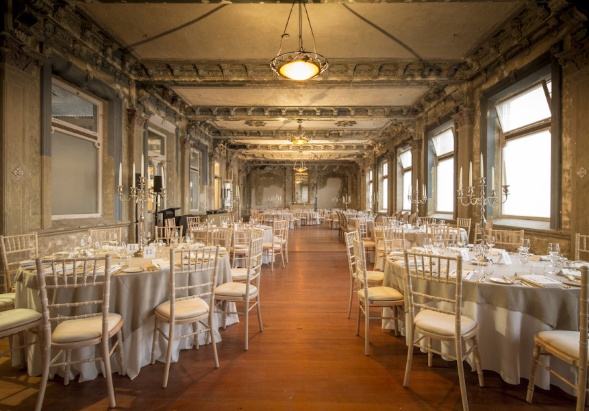 The george ballroom reopens broadsheet for Wedding venues open late