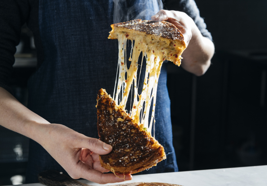 Maker & Monger's Pimento Grilled Cheese
