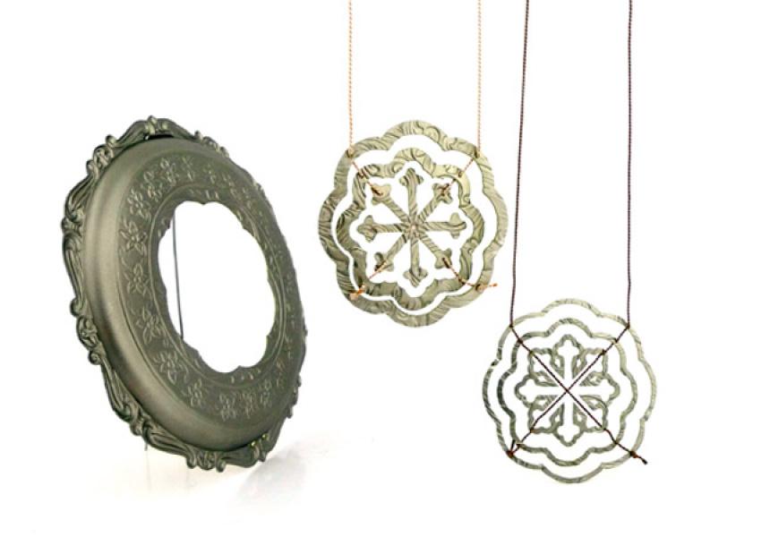Planar radial pattern - coaster by Melissa Cameron