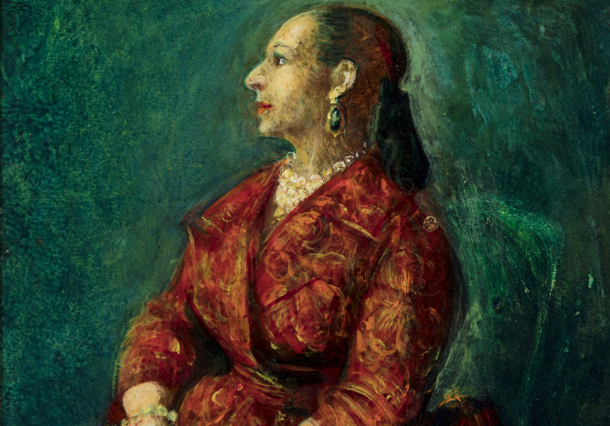 """Study for Helena Rubenstein"" by William Dobell"