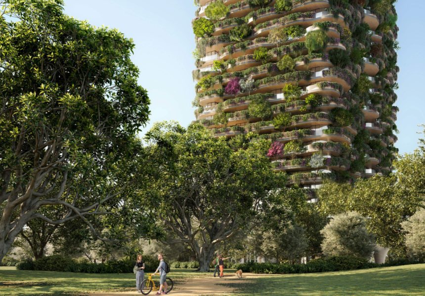Artist's impression of The Urban Forest