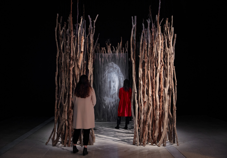 Installation view of Maree Clarke: Ancestral Memories open from 25 June – 3 October 2021 at The Ian Potter Centre: NGV Australia, Melbourne.