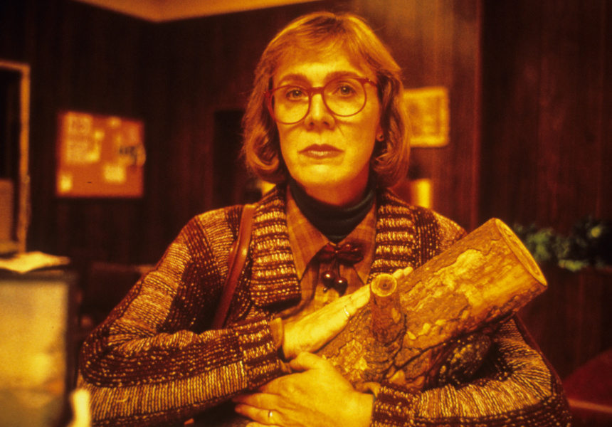 Log Lady with her log, which has something to tell you