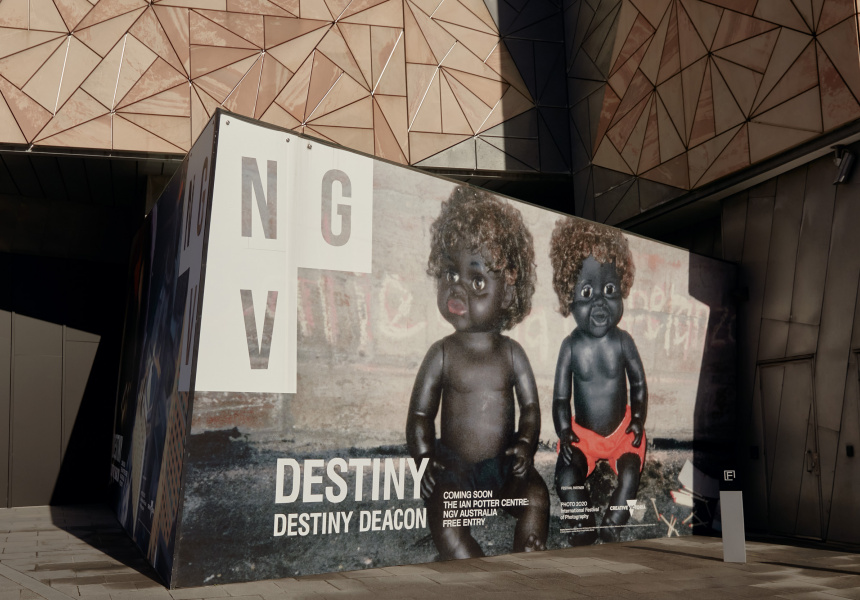Installation view of DESTINY at The Ian Potter Centre: NGV Australia, Melbourne, 2020.