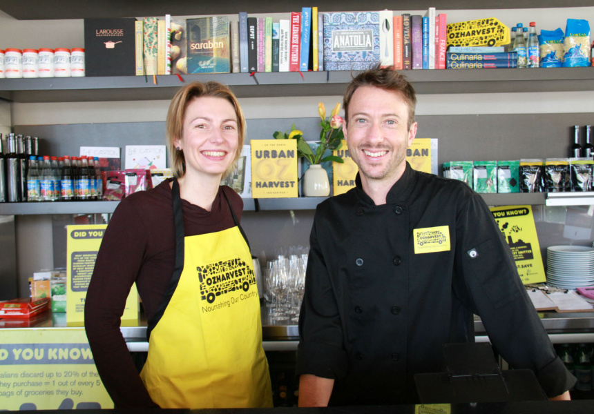 Sophie Chamberlin and chef Travis Harvey