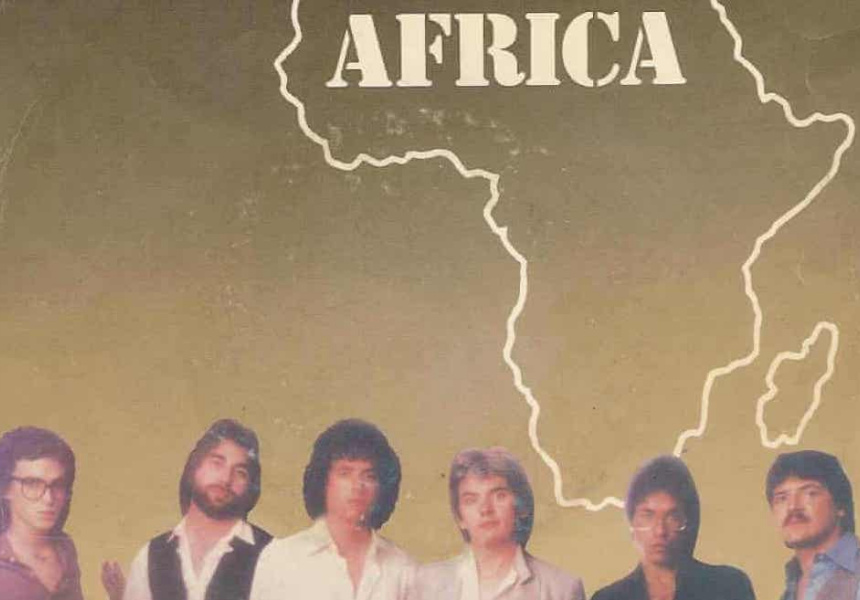 """The sleeve for """"Africa"""" by Toto"""