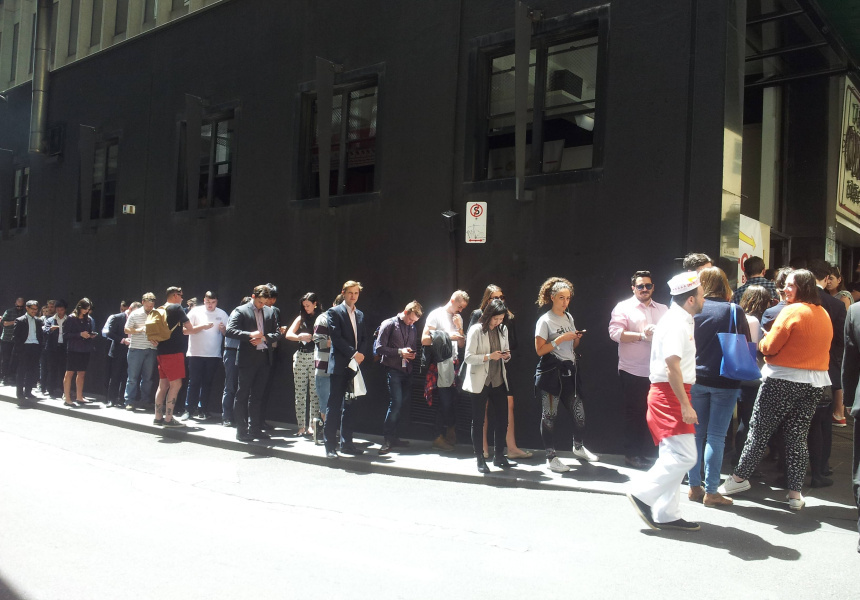 The last In-N-Out Burger pop-up in Melbourne in 2014