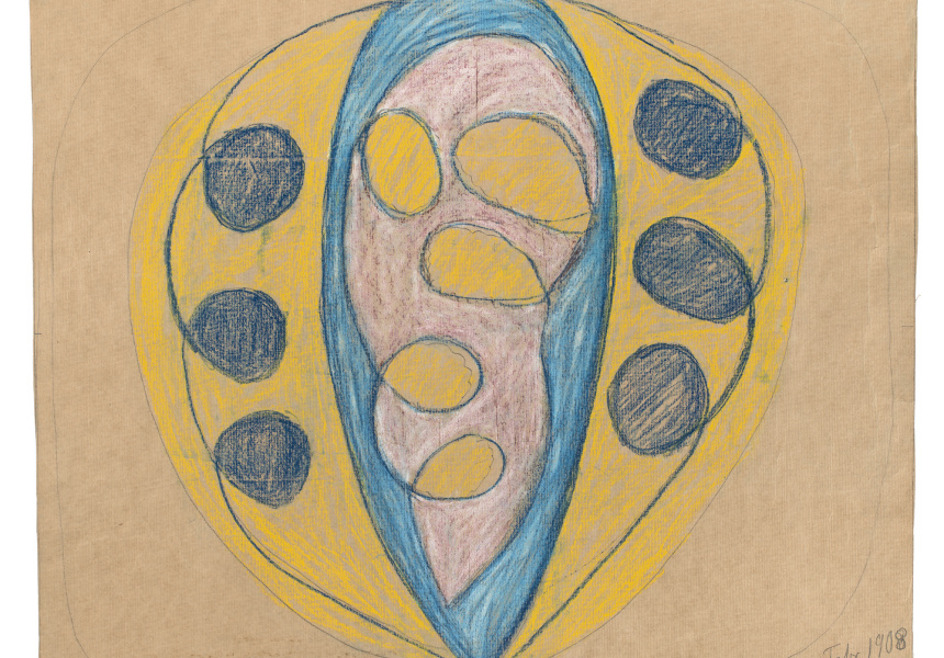 Hilma af Klint  No title (automatic drawing) 1908  dry pastel and graphite on paper, 52.5 x 62.6 cm  By courtesy of the Hilma af Klint Foundation  HAK1258
