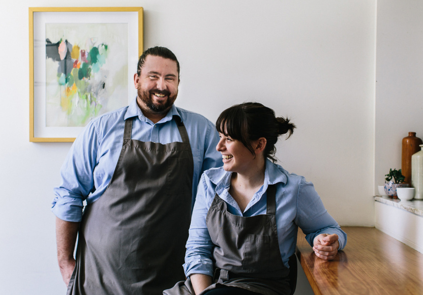 Chefs Mike Eggert and Jemma Whiteman - Pinbone