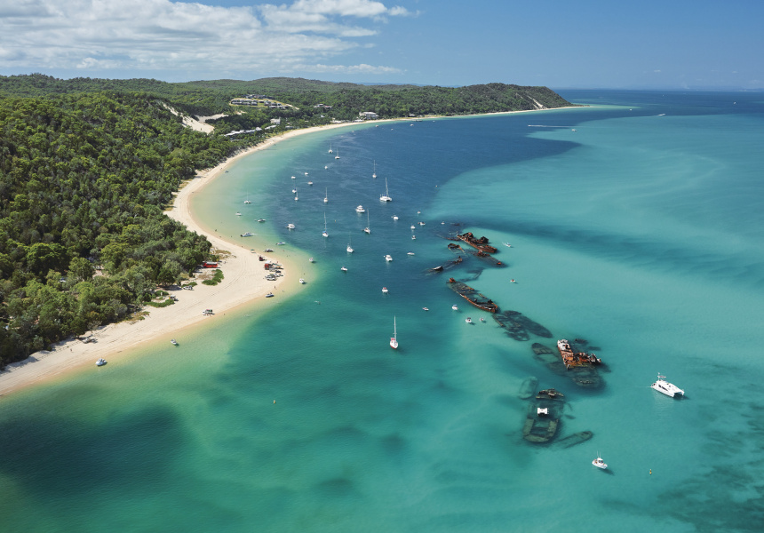 Moreton Island. Image via Tourism and Events Queensland.