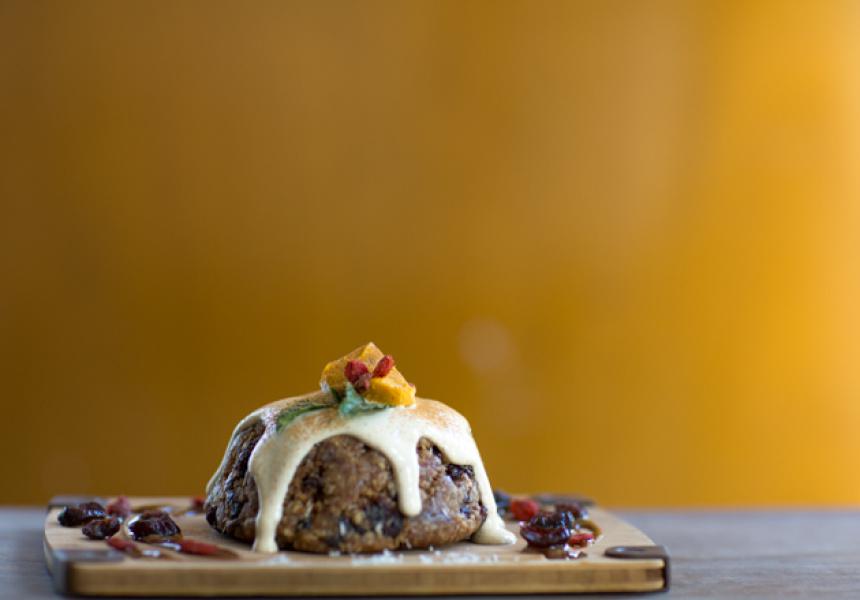 Raw and vegan Christmas pudding