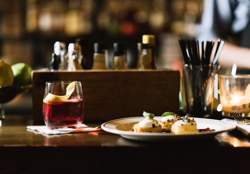 Negroni With A Twist, paired with a bold, rich dish from Nieuw Amsterdam.