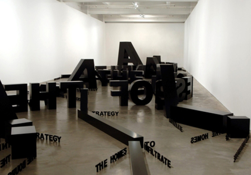 EMILY FLOYD A Strategy to infiltrate the homes of the bourgeoisie, 2005 paint and wood