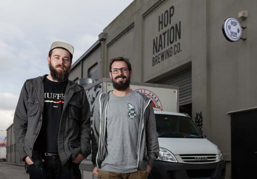 Hop Nation's Duncan Gibson and Sam Hambour