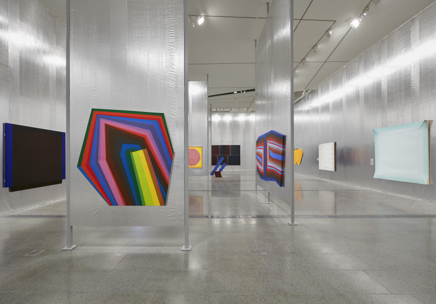 Installation  view  of  the  National  Gallery  of  Victoria's  'The  Field  Revisited' (2018)  at  NGV  Australia  at  Federation  Square.