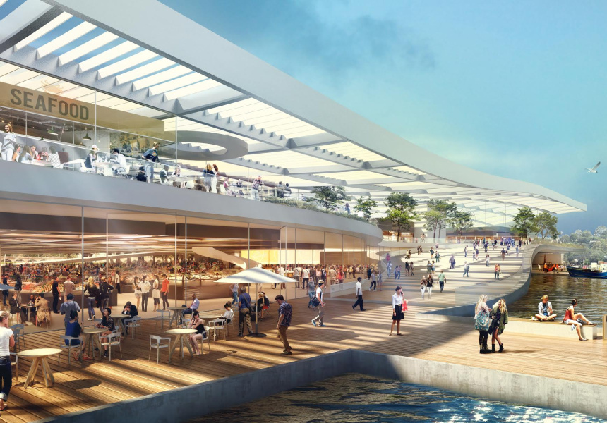 Artists impressions of the new fish markets.