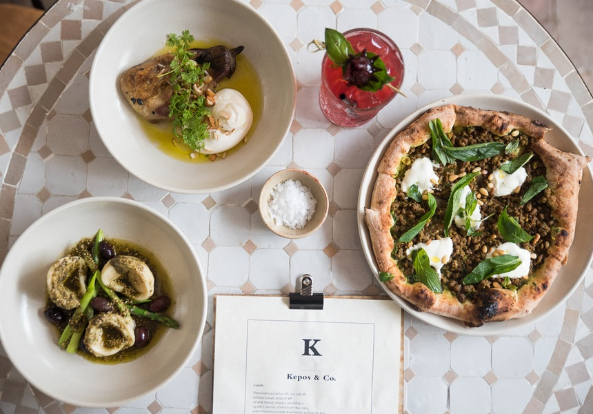 Kepos and Co, the Turkish eatery, is light, bright and airy. Rustic brickwork nestles into curves of white Moorish walls creating a classic but contemporary setting.