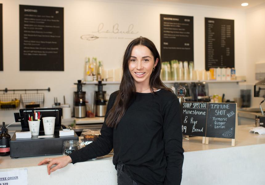 Jasmine Hyde of LaBuda Juice Bar.