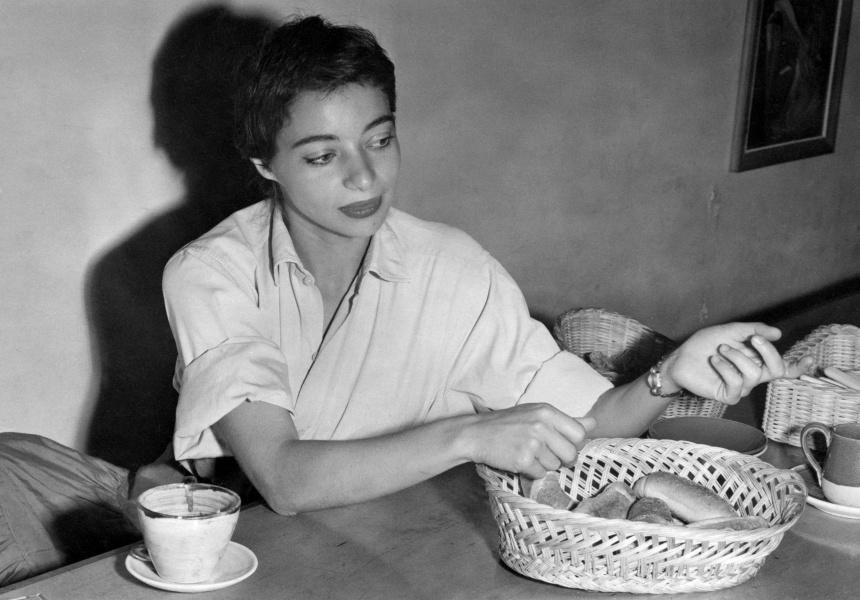 Mirka Mora at Mirka Cafe, 1954